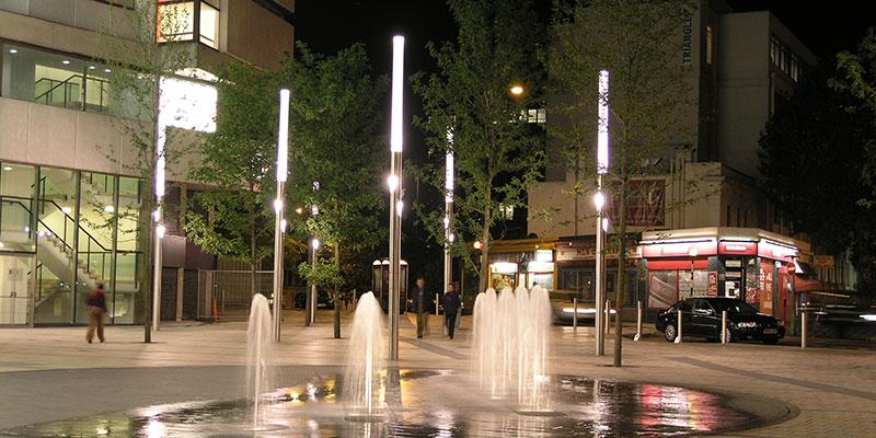 The bespoke urban lighting for Lyric Square in London is one of Phil's favourite projects